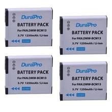 4 шт. DuraPro DMW-BCM13 DMW BCM13E BCM13 BCM13PP литий-ионный Батарея для Panasonic Lumix DMC ZS30 TZ40 tz41 TS5 FT5 lz40 TS5 Камера