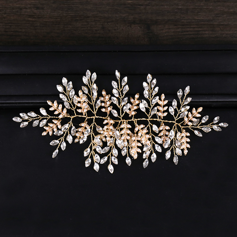 Gold Vintage Crystal Tiara Hair Jewelry For Women Bridal Pearl Headbands Handmade Wedding Hair Accessories Luxury Ornaments Gift-in Hair Jewelry from Jewelry & Accessories on Aliexpress.com | Alibaba Group