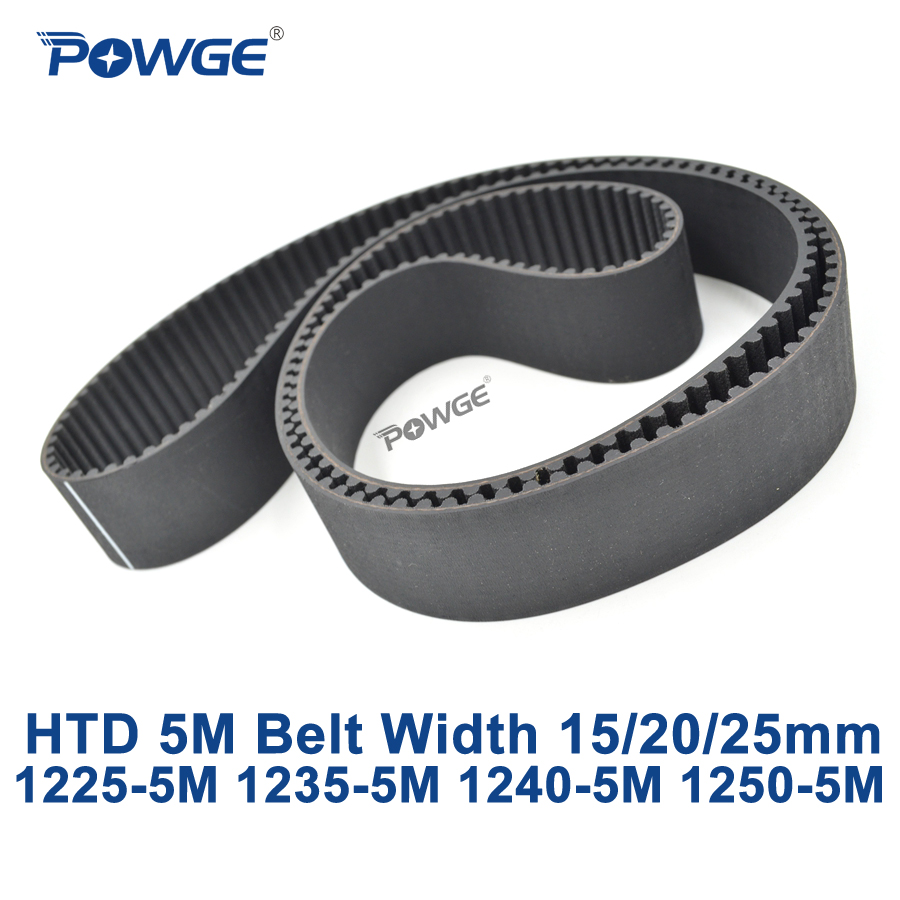 POWGE HTD 5 M courroie de distribution synchrone C = 1225/1235/1240/1250 largeur 15/20/25mm dents 245 247 248 250 HTD5M 1225-5 M 1240-5 M 1250-5 MPOWGE HTD 5 M courroie de distribution synchrone C = 1225/1235/1240/1250 largeur 15/20/25mm dents 245 247 248 250 HTD5M 1225-5 M 1240-5 M 1250-5 M