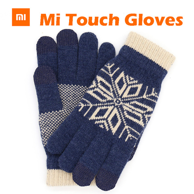 Original Xiaomi Finger Bildschirm Touch Handschuhe Winter Warme Wolle Handschuhe Für iphone 6s Xiaomi Touch Screen Telefon Tablet Bargeld Maschine