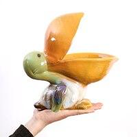 Скандинавские креативные фигурные статуэтки птицы керамические ремесла многофункциональная настольная утварь для хранения украшения дом