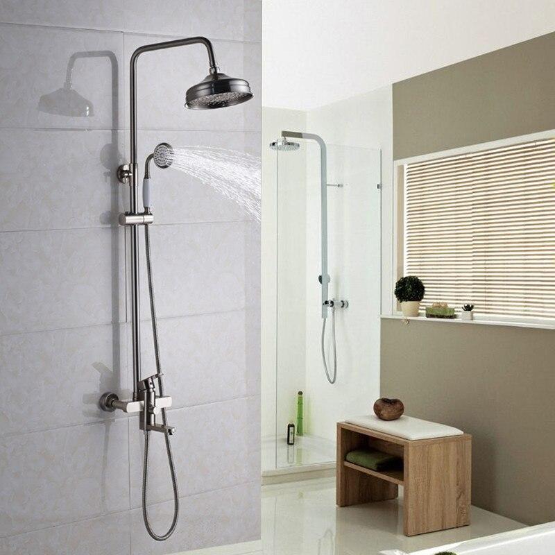 Classical Style Brass Shower Faucet Bathroom Rain Shower Faucet Set ...