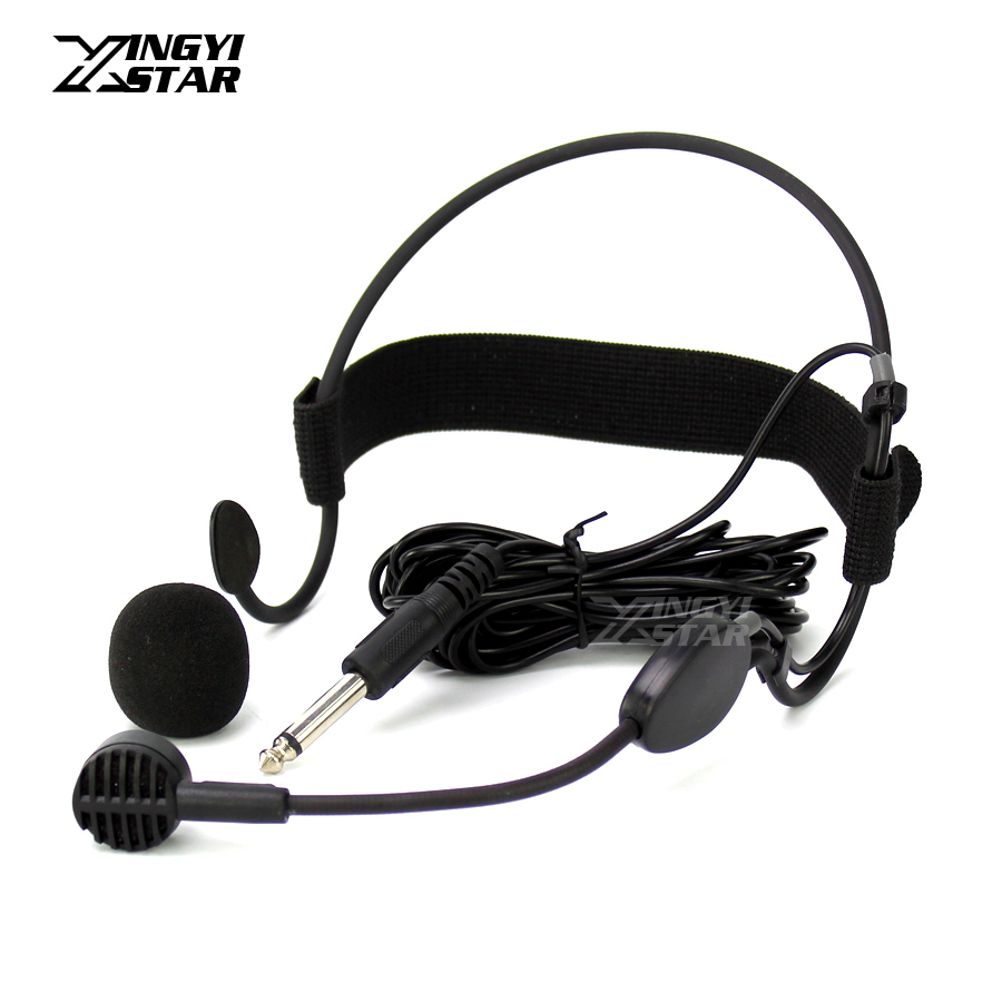 professional jack dynamic headset microphone karaoke mic for guitar audio mixer dj sing. Black Bedroom Furniture Sets. Home Design Ideas