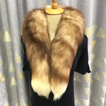 Men Women Genuine Fox Fur Scarf 100% Real Natural Collar Scarves Wraps Good Quality Ring Muffler 95cm SC02