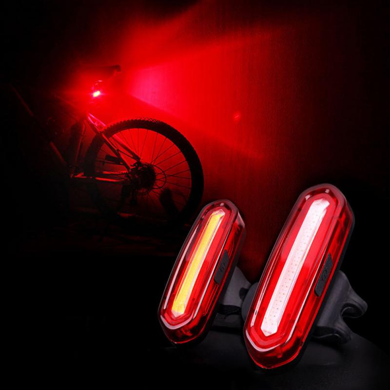 IPX 6 Rechargeable COB LED USB Vtt Feu arrière Feu Arrière VTT Avertissement de Sécurité Arrière De Bicyclette Lumière
