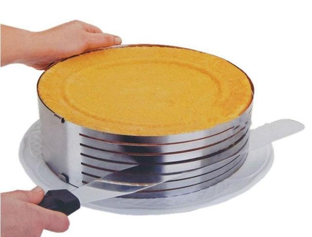 Color Box Packing Adjustable Round Slicing Cake Ring Layers Cake Slicer Kit Mousse Mould bread cutting setting
