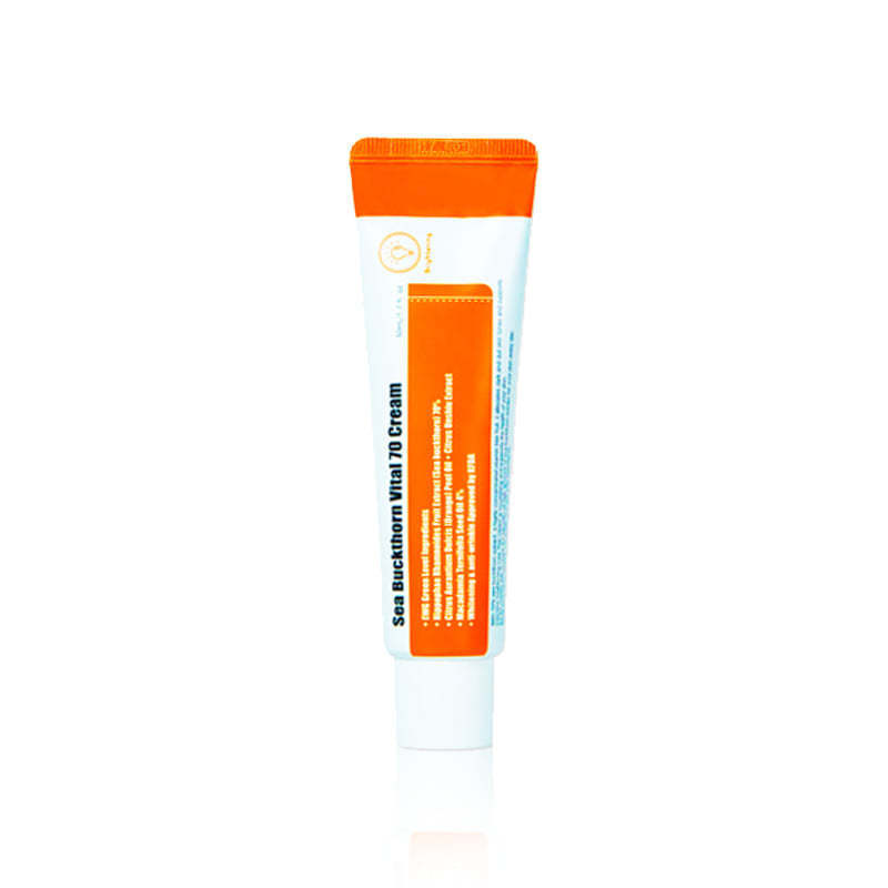 Buckthorn Mar PURITO 70 Vital Creme 50ml Hialurônico Vitamina C Soro Endurecimento Creme Facial Hidratante Cuidados Com A Pele Creme de Clareamento