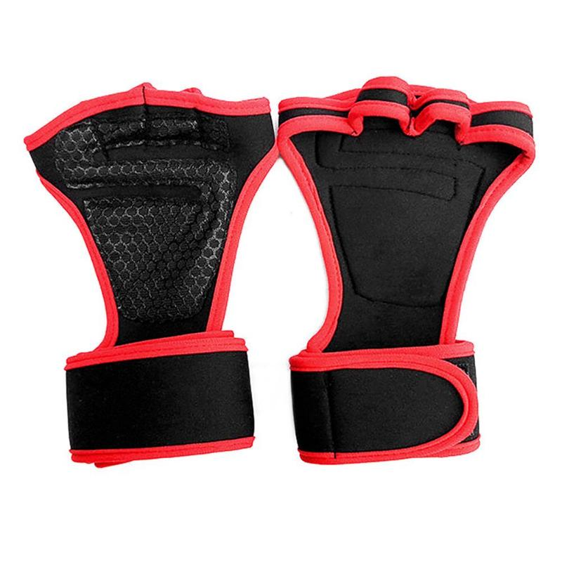 1 Pair Gym Gloves Weight Lifting Training Gloves Women Men Fitness Sports Body Building Gymnastics Grips Gym Hand Palm Protector 23