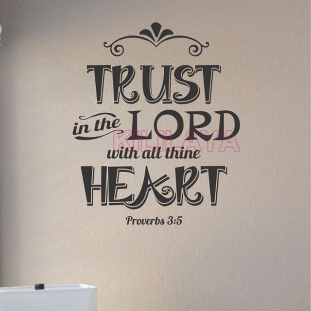 Stickers Christian Quote Trust In The Lord Vinyl Wall Sticker Decals