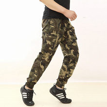 2018 Autumn Top Mens Fashion Military Cargo Pants Multi-pockets Baggy Men Pants Casual Trousers Overalls Army Camouflage Pants