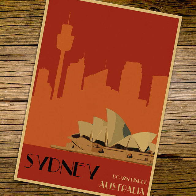 America dallas texas city travel poster retro kraft paper vintage print poster wall sticker home bar