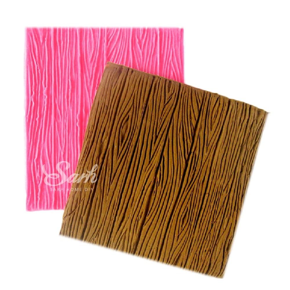 M1078 Tree Bark Linie Textură Stripe Fondant Cake Mold Food Grade Silicone Tort Mold pentru Bucătărie Baking Decorare și unelte