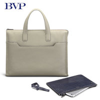 BVP Brand High Quality Genuine Leather Business Men Briefcase Real Leather Multi Function Portable Briefcase Messenger