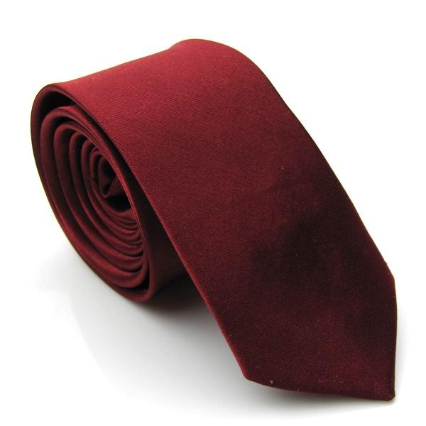 Masculino Skinny Slim Retrô Gravata Gravata estreita fina cor sólida 6L Estilo Europeu