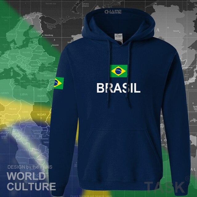 Brezilya hoodie erkek kazak ter yeni streetwear 2017 üstleri formaları giyim eşofman ülke brezilya bayrağı Brezilya polar BR