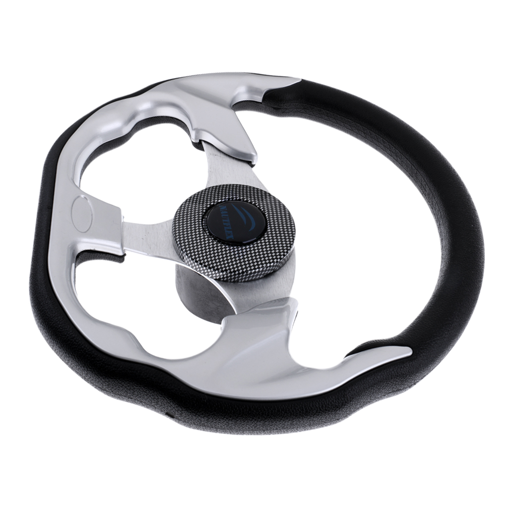 Image 5 - 310mm D Shape Marine Boat Steering Wheel Non directional Aluminum Alloy 3/4' Key Way Tapered for Boatting-in Marine Hardware from Automobiles & Motorcycles
