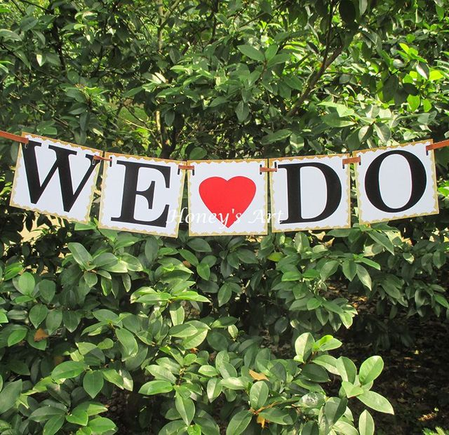 Hily Ever After Banner We Do Vintage Wedding Signs Garland Braidal Shower Photo Booth Props