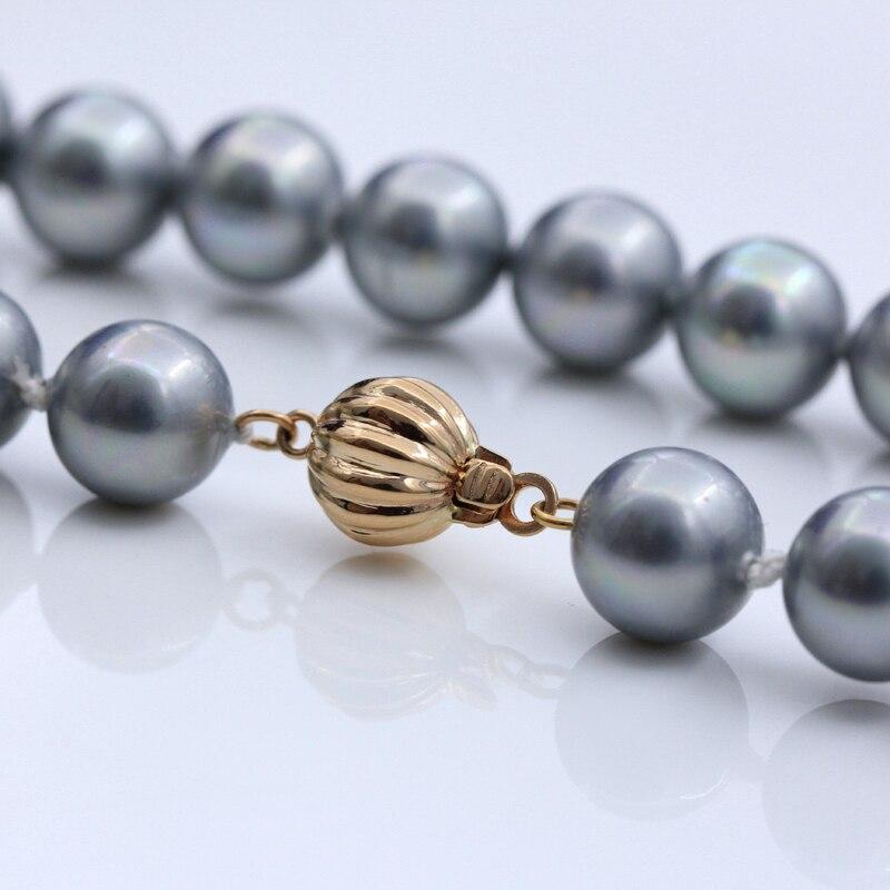 Véritable collier de perles de bracelets à faire soi-même en or 18 K faisant des résultats fournitures forme de lanterne fermoirs et crochets connecteur fermoirs accessoires - 4