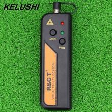 Localizador visual da falha de kelushi 1/10/20/30mw para o mini verificador vermelho ftth da fibra ótica do laser do conector de 2.5mm 1-30km