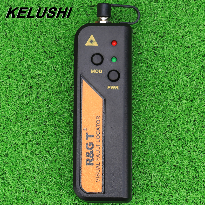 KELUSHI 10 mw Fiber Optic Visual Fault Locator för 2,5 mm anslutning Mini RGT Red Laser Tester för FTTH