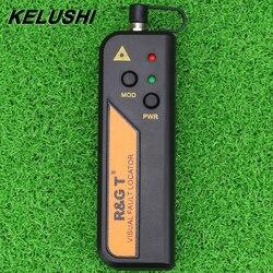 Kelushi 10mw localizador visual de falha de fibra óptica para 2.5mm conector mini rgt testador laser vermelho para ftth