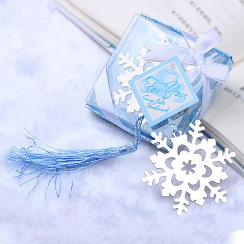 1pc Creative Activities Small Gifts Metal Bookmarks Business Gifts Stationery Supplies Beautiful Creative Snowflake Bookmarks