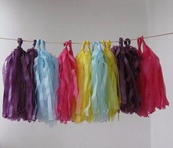 14inch/35cm long, 25cm width 100pcs/lot Tissue Tassel Garlands Paper Garland banners DIY kits