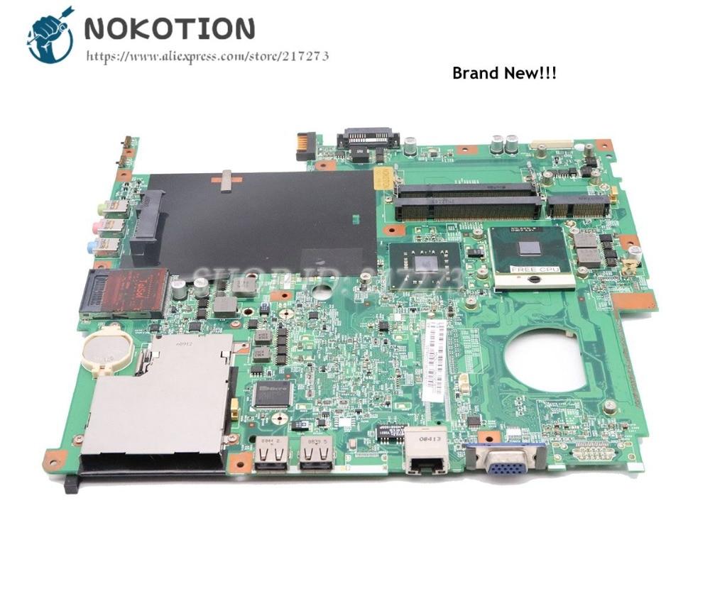 NOKOTION For Acer Extensa 5630 5220 Laptop Motherboard GL40 DDR2 Free Cpu MBTRM01001 48.4Z401.01M