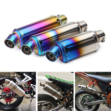 Universal Inlet 51mm Motorcycle Exhaust Full System Muffler Pipe Stainless Steel GP MP Motorbike Silencer Escape With DB Killer 51mm universal motorcycle exhaust middle pipe muffler db killer silencer for honda cbr500 500r 500x 2012 2015 stainless steel