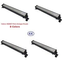 4XLot Led Wall Washer Lights 48X3W 8 Colors Led Light Bar Running Horse Funtion DMX Dj