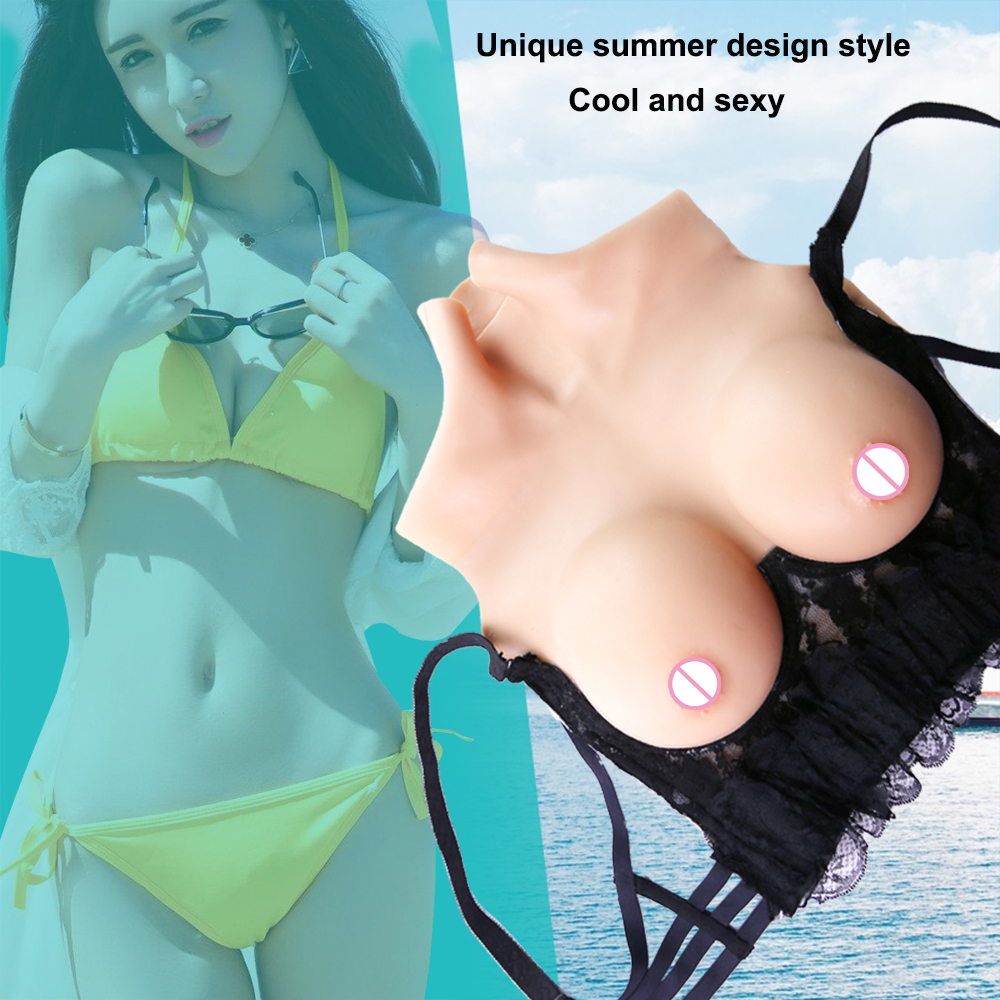 Medical Silicone Breast Prosthesis D Cup Mastectomy Bras Artificial Breast Man Woman Transsexual Crossdress Boobs Prosthesis new1000g d cup100%pure natural medical silica gel silicone breast cross dresser breast silicone mastectomy transvestite clothing