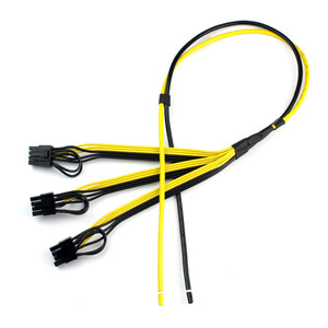 Image 1 - 5pcs Power Video Card Cable Mine Machine Adapter Cable 3x (6 +2) Pin Line, The Main Line 12AWG + Sub Line 18AWG Mining Wire