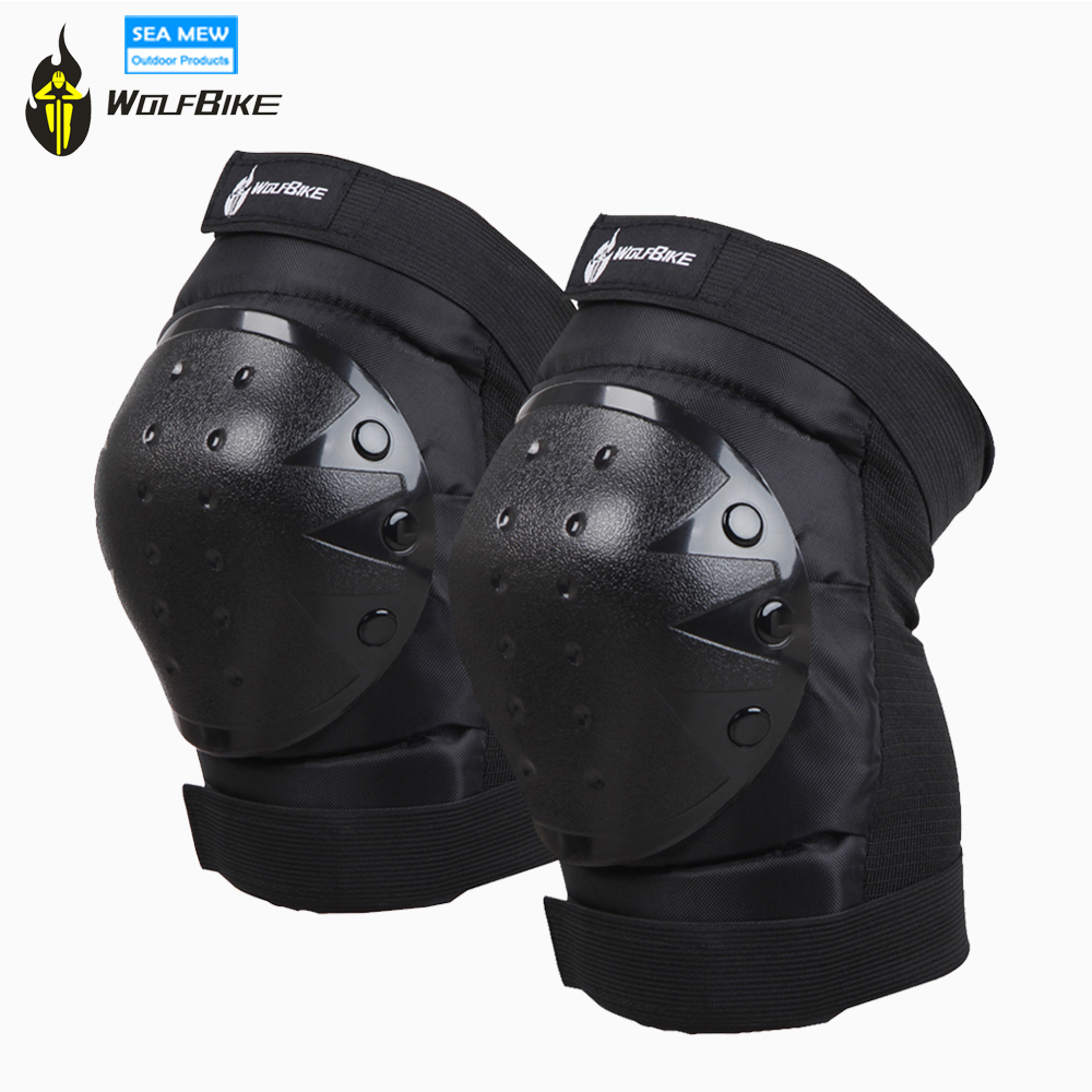 WOLFBIKE Motorcycle Knee Protector Bicycle Kneeling Cycling Bike Racing Tactical Skate Protective Knee Pads and Guard Elbow Pad