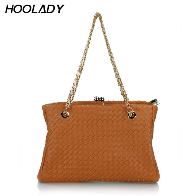 Hoolady 2013 women's handbag popular fashion vintage knitted chain personalized women's bags
