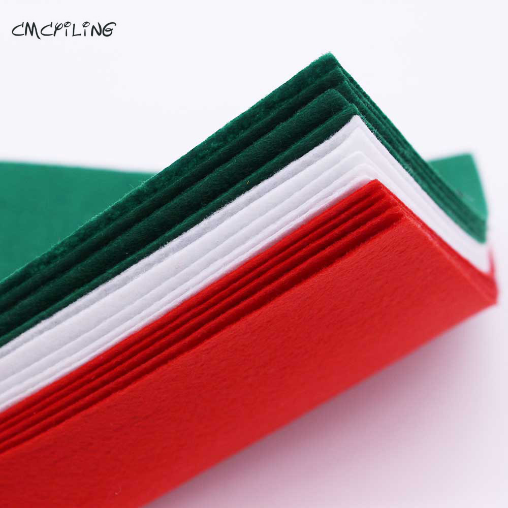 CMCYILING Christmas Felts Red Green White Hard Felt Sheets For Felt Craft DIY Craft Arts Crafts & Sewing Scrapbook Hometextile