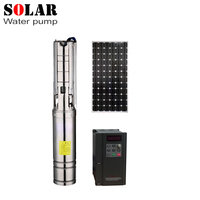 4SZW13 22 1.5Brushless high speed solar deep water pump with permanent magnet synchronous motor max flow 23T/H home& agriculture
