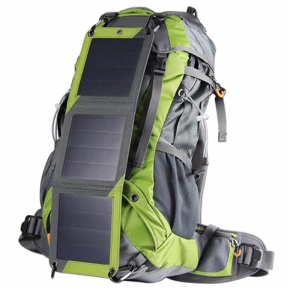 Solaire de randonnée Sac À Dos Tactique En Plein Air Alpinisme sacs 10 w Panneau Solaire Pour La Banque D'alimentation Caméra Camping Voyage Sac À Dos