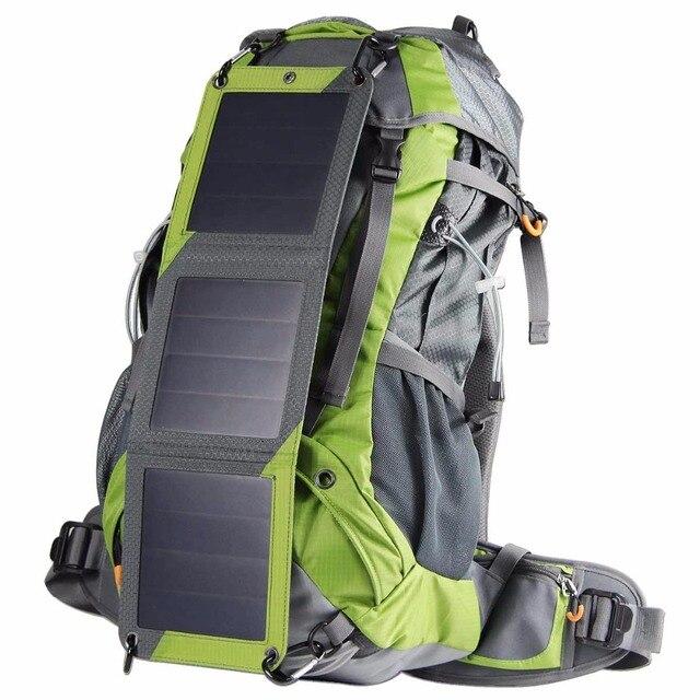 7f13bf8511 Trekking Solar Tattico Zaino sacchetti Esterni di Alpinismo 10 w Pannello  Solare Per Powerbank Macchina Fotografica