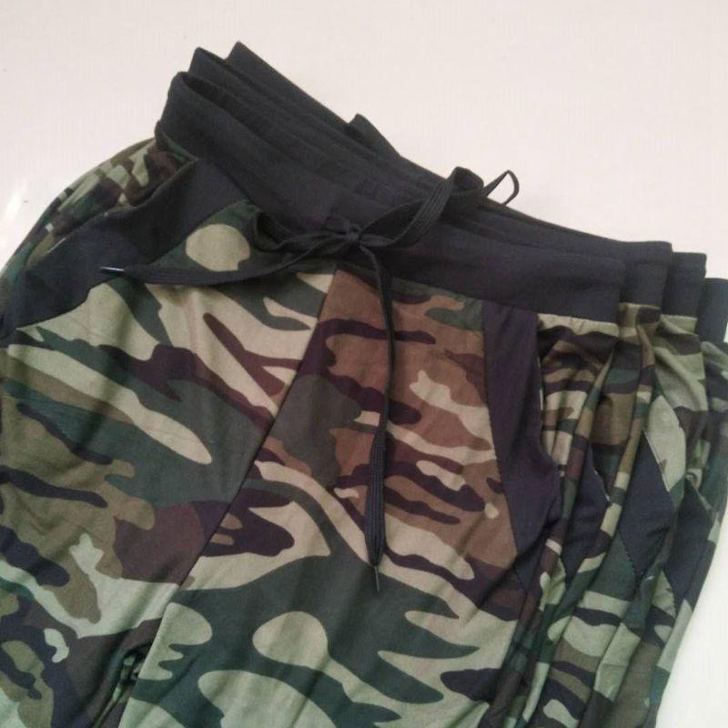Sweatpants Harem Como Pants Drawstring Pantaloons Loose Female High Waist Pocket 27