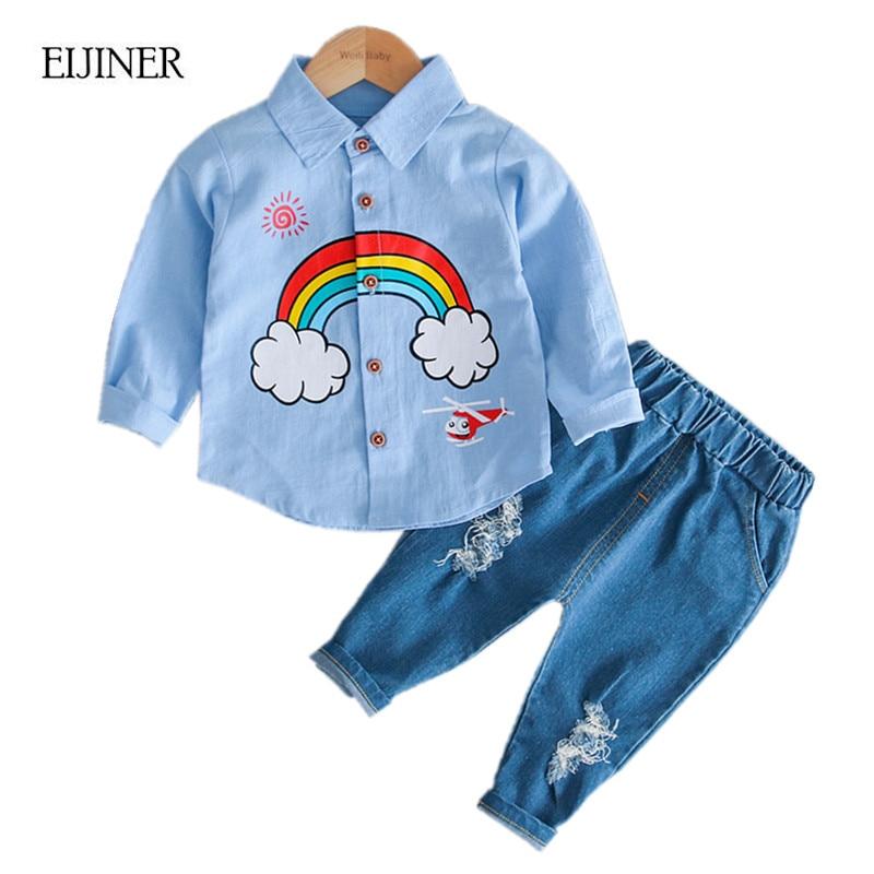 Rainbow Baby Boys Clothes Set Autumn 2018 New Cotton Long ...