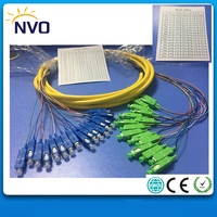 SM,16core,G652D,50cm from Cable to Connector,L:4M,PVC Jacket,SC/APC SC/UPC Bundled Patch Cord/Fiber Optic Distribution Pigtail