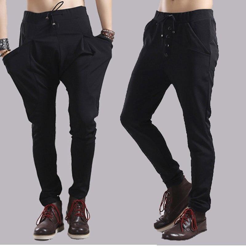 2017 grande taille M-6 xl hommes harlan han édition cultivent son pantalon  de moralité pieds à travers le pantalon Personnalité styliste pantalon 0df0d6a192e9