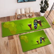 Africa Map Area Rugs And Crystal Velvet Carpets For Kids Baby Home Living Room Green Large Bedroom Study kitchen Door Floor Mats(China)