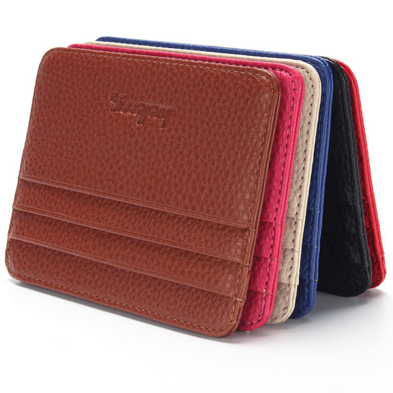 baellerry Mini Men's leather credit card holder id card case thin wallet for women with coin pocket small purse cardholder