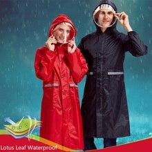 Thicken Long Style Oxford Cloth Rainfreem Impermeable Raincoat Women/Men Rainwear Outdoor Motorcycle Raincoats High Quality
