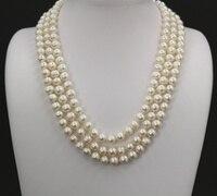 Collares Collier Primavera Y el Verano Nueva Europa Americana Exquisito Deportivo de Lujo Declaración Collar de Perlas de Agua Dulce Para La Señora