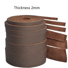 The first layer of real cowhide rope 3/4/7/8/10 mm crazy horse skin oil leather square 2mm thick strip
