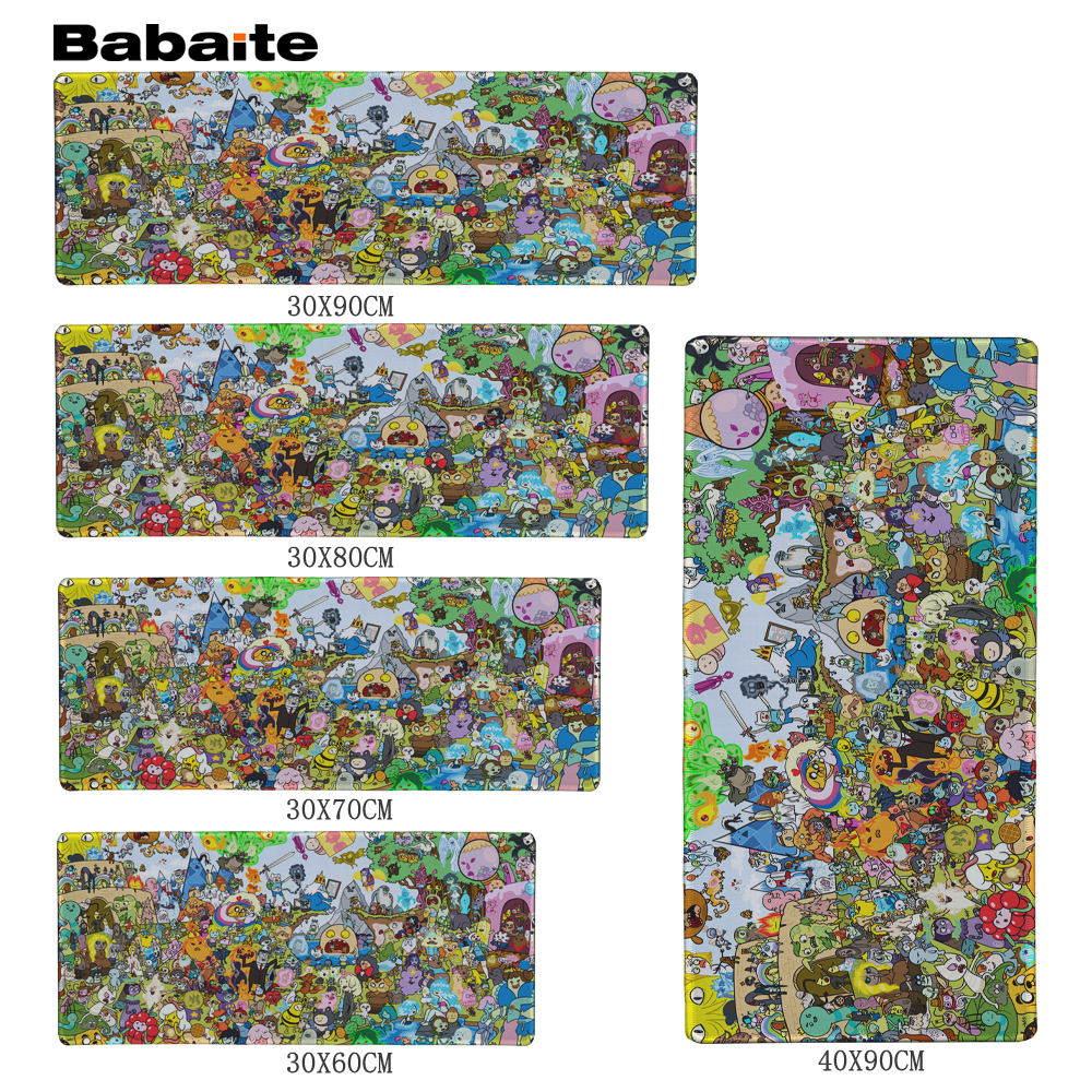 Babaite Adventure Time Speed Gaming Edition Mouse Pad 900 * 300mm XL Edge of Locking Mouse Pad for Laptop
