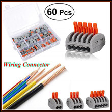 Провод компактные коннекторы для детей возрастом 2, 3, 5, Порты и разъёмы рычаг-гайка рычаг проводник PCT-212 PCT-213 PCT-215 распределительная коробка Ассортимент (10 шт/20/60 шт.)
