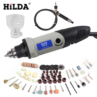 HILDA 220V 400W Mini Electric Drill Dremel Rotary Tool Grinding Power Tool 6 Position Variable Speed